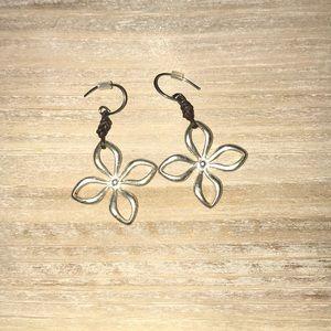 Vintage Fossil Flower Earrings